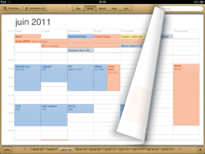 iOS 5 - calendrier iPad